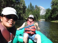 Rafting down the Merced river