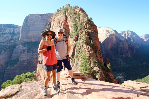 Angel's Landing behind us